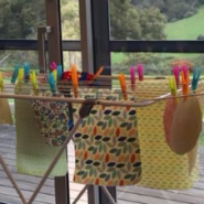 Art Group 2018 Bees Wax wraps drying